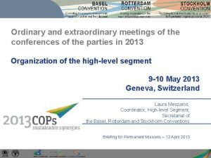 Ordinary and extraordinary meetings of the conferences of