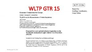 WLTP GTR 15 Monday April 06 2015 WLTP10
