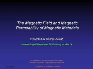 The Magnetic Field and Magnetic Permeability of Magnetic