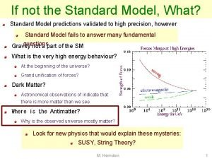 If not the Standard Model What Standard Model