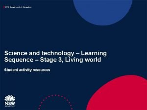 NSW Department of Education Science and technology Learning