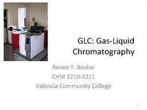 GLC GasLiquid Chromatography Renee Y Becker CHM 2210