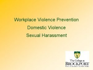Workplace Violence Prevention Domestic Violence Sexual Harassment Training