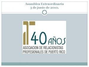 Asamblea Extraordinaria 3 de junio de 2010 Cdigo