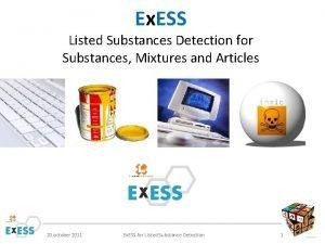 Ex ESS Listed Substances Detection for Substances Mixtures
