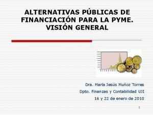 ALTERNATIVAS PBLICAS DE FINANCIACIN PARA LA PYME VISIN