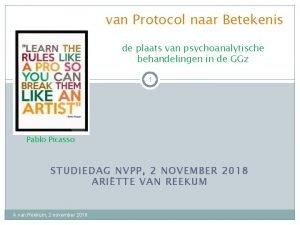 van Protocol naar Betekenis de plaats van psychoanalytische