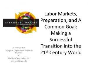Dr Phil Gardner Collegiate Employment Research Institute at