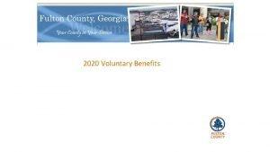 2020 Voluntary Benefits Voluntary Plan Choices Plans Flexible