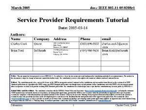 March 2005 doc IEEE 802 11 050208 r