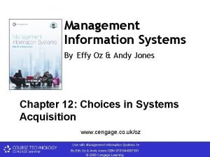 Management Information Systems By Effy Oz Andy Jones