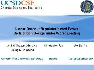 Linear Dropout Regulator based Power Distribution Design under