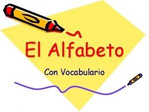 El Alfabeto Con Vocabulario El Alfabeto Espaol A