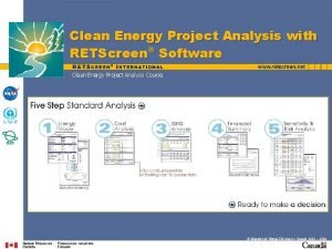 Clean Energy Project Analysis with RETScreen Software Clean
