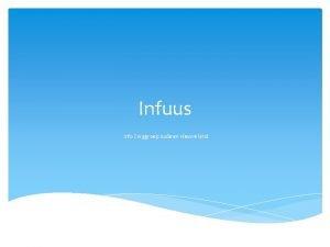 Infuus info Zorggroep oude en nieuwe land Infusie