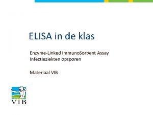 ELISA in de klas EnzymeLinked Immuno Sorbent Assay