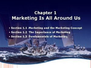 MARKETING AND 1 THE MARKETING Chapter CONCEPT Marketing