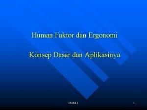 Human Faktor dan Ergonomi Konsep Dasar dan Aplikasinya