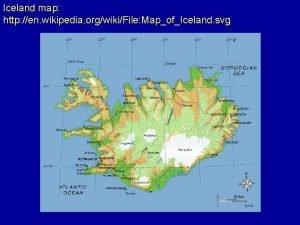 Iceland map http en wikipedia orgwikiFile MapofIceland svg