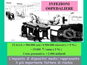 INFEZIONI OSPEDALIERE ITALIA 500 000 casi 9 500