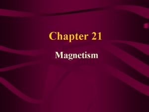 Chapter 21 Magnetism 21 1 Magnets and Magnetic