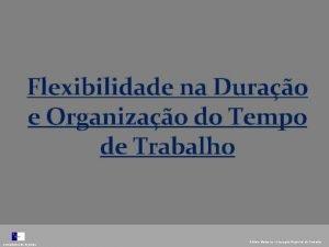 Flexibilidade na Durao e Organizao do Tempo de
