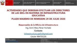 PER MINISTERIO DE EDUCACIN DIRECCIN REGIONAL DE EDUCACIN