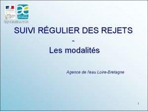 SUIVI RGULIER DES REJETS Les modalits Agence de