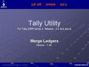 Tally Utility For Tally ERP 9 Series A