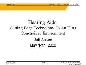 May 2008 doc IEEE 802 15 15 08