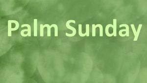 Palm Sunday Christians around the world celebrate Palm