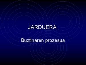 JARDUERA Buztinaren prozesua Buztina ezagutuz Ikasleak taldeka bildu