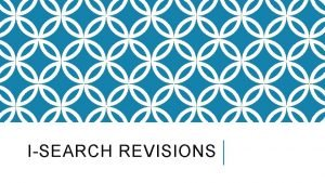 ISEARCH REVISIONS FIX 1 Quotations You must use