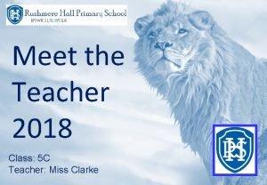 Meet the Teacher 2018 Class 5 C Teacher