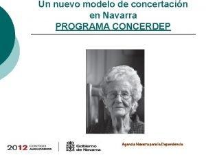 Un nuevo modelo de concertacin en Navarra PROGRAMA