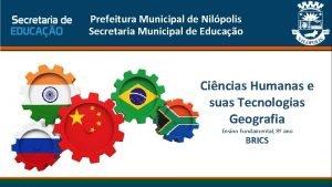 Prefeitura Municipal de Nilpolis Secretaria Municipal de Educao