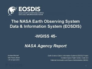 The NASA Earth Observing System Data Information System