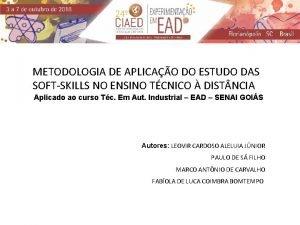 METODOLOGIA DE APLICAO DO ESTUDO DAS SOFTSKILLS NO