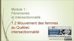 Module 1 Fminismes et intersectionnalit 1 2 Mouvement