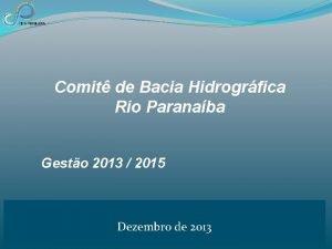 Comit de Bacia Hidrogrfica Rio Paranaba Gesto 2013