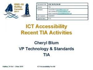 Document No GSC 16 PLEN89 Source TIA Contact