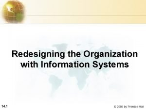 Redesigning the Organization with Information Systems 14 1
