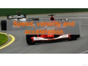 Speed velocity and acceleration Core Define speed and