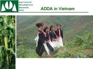 ADDA in Vietnam ADDA Vietnam Projects The IPM