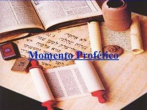Momento Proftico Momento Proftico A nova ordem mundial