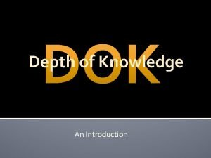 Depth of Knowledge An Introduction Confucius Says He