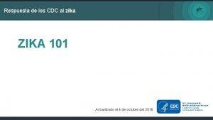 Respuesta de los CDC al zika ZIKA 101