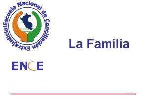 La Familia EN E Concepciones de la familia