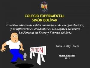 COLEGIO EXPERIMENTAL SIMN BOLVAR Excesivo nmero de cables