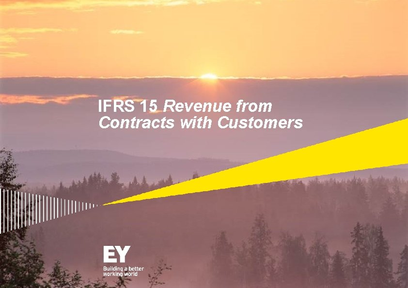 IFRS 15 Revenue from Contracts with Customers Table